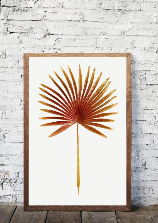 INTERIEUR POSTERS Red dyed palm leaf | 50X70 CM