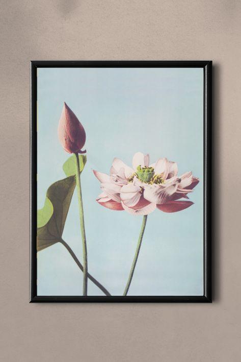 PAND LABEL KAART A5 |  VINTAGE FLOWER BLUE
