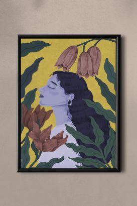 PAND LABEL KAART A5 |  FLOWER WOMEN