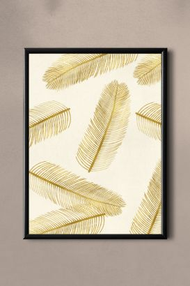 PAND LABEL KAART A5 |  GOLD FEATHER