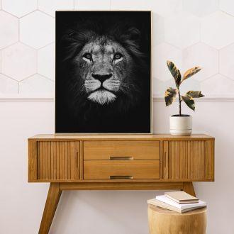 Lion BLACK Interieur posters | 50x70