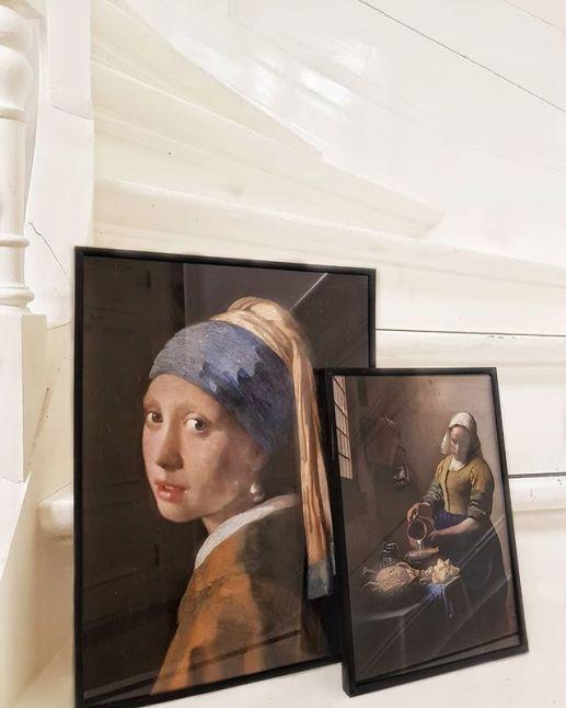 MEISJE MET DE PAREL VAN JOHANNES VERMEER Interieur posters | A3