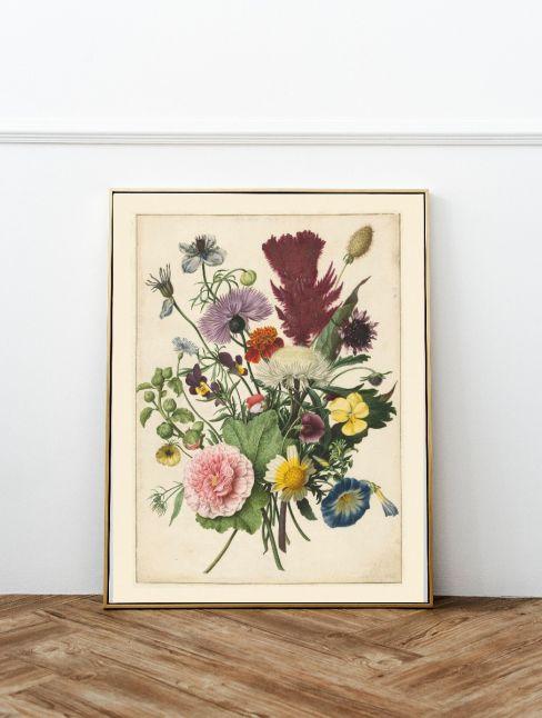 Boeket bloemen, anoniem, 1680 Interieur posters | 50x70