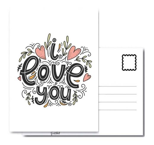 PAND LABEL WENSKAART A6 | I LOVE YOU PRINT