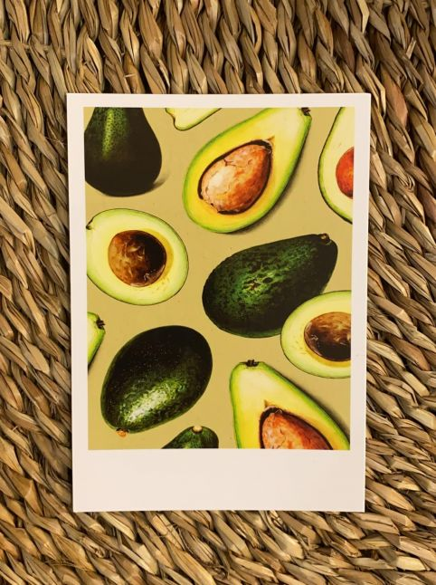 PAND LABEL KAART A6 |  fresh avocado