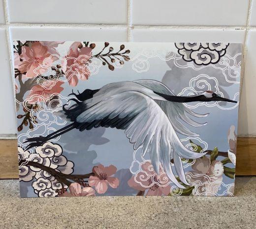 Japanese crane interieur kaart  | A4