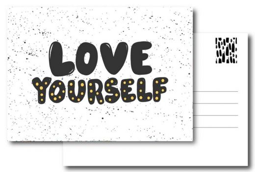 PAND LABEL INTERIEUR / WENSKAART | LOVE YOURSELF