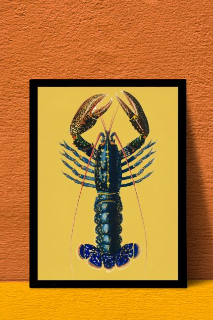 vintage Crimson Crawfish. interieur kaart  | A4