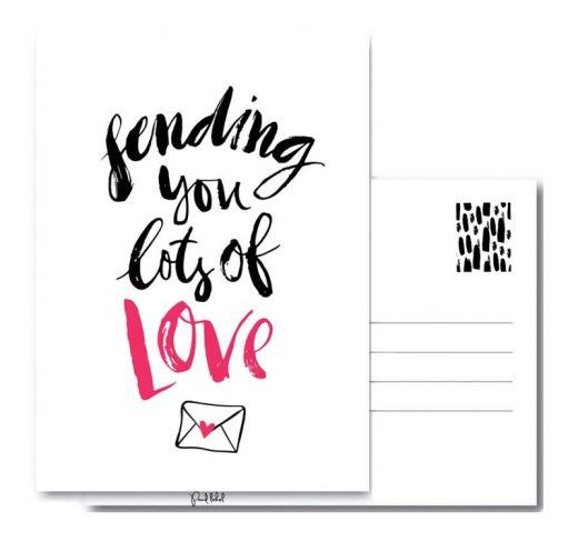 PAND LABEL WENSKAART | SENDING LOVE A6