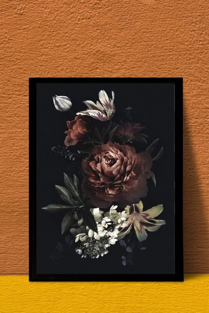 VINTAGE FLOWER INTERIEUR KAART   A4
