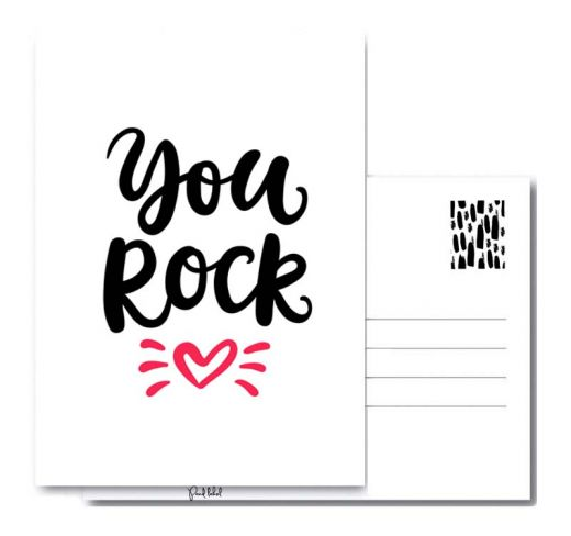 PAND LABEL INTERIEUR / WENSKAART |YOU ROCK A6